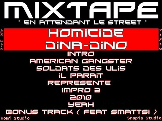 "MIXTAPE "" EN ATTENDANT LE STREET "" EN COLLABORATION AVEC DINA-DINO"