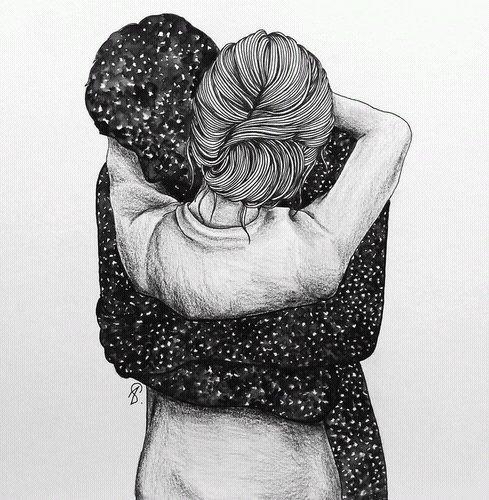 Il y a un moment où on a juste besoin d'une épaule sur laquelle pleurer, des bras dans lesquels se blottir, et des mots rassurant pour stopper tout ça et reprendre confiance en sois ♥•