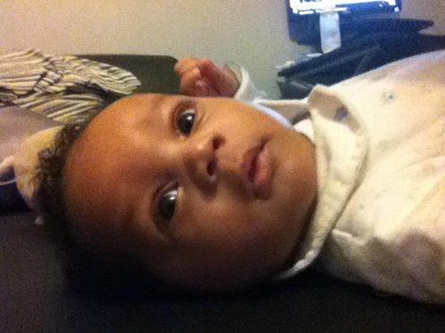 mon fils curtis 2 mois