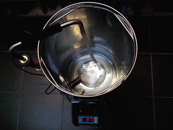 Grainfather test à l'eau, tout fonctionne très bien