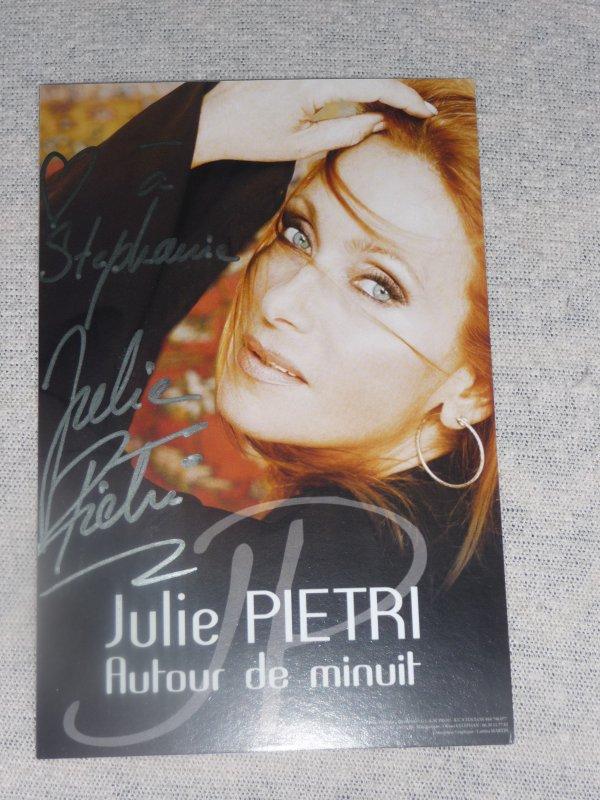 dédicace de Julie Piétri