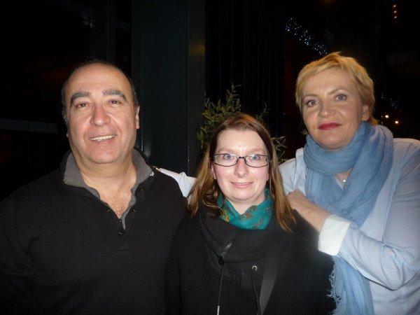 Roland Marchisio, Aude Thirion et moi