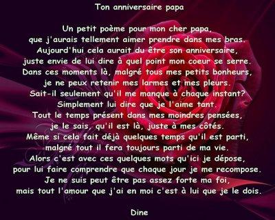 Poème Pour L Anniversaire De Papa