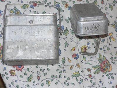 gamelle français gravé travail artisinal et parcour du soldat trés rare |