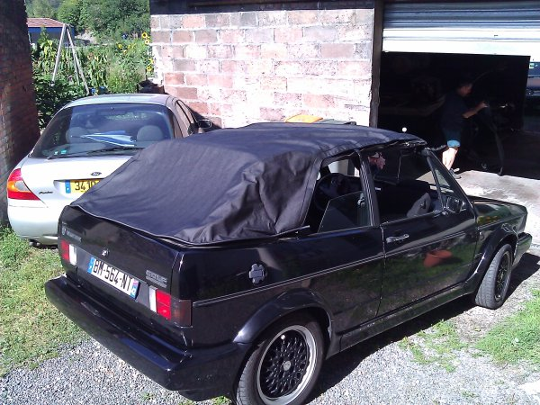 Changement capote Golf 1 Cabriolet