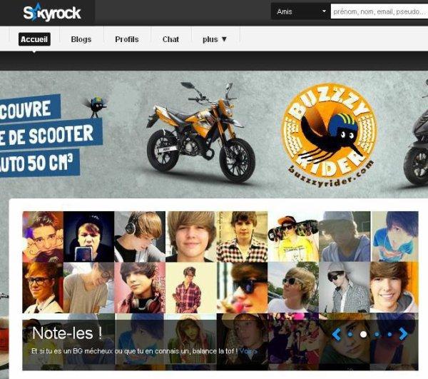 J'apparais sur la Page d'accueil de Skyrock !