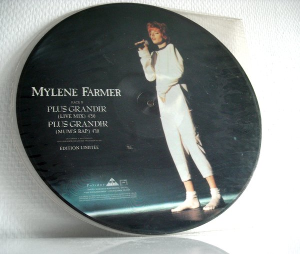 "Picture Disc ""Plus grandir (live)"""