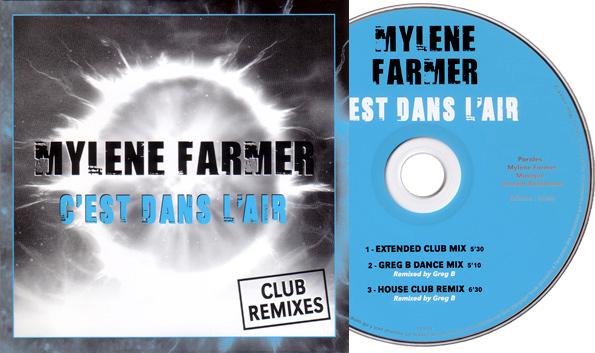 """CD Promo """"C'est dans l'air"""" Club Remixes bleu"""