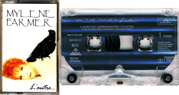 """Cassettes """"Ainsi soit-je"""" et """"L'autre"""" import Europe"""