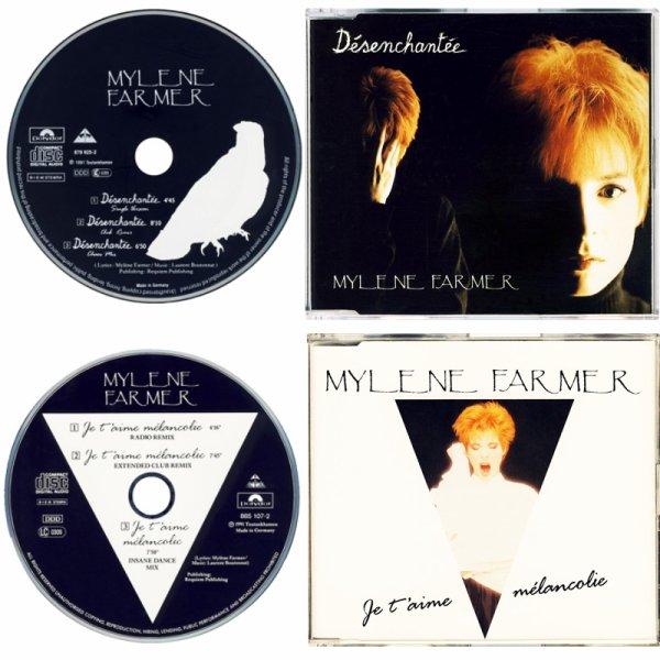 """CD maxi Europe """"Désenchantée"""" et """"Je t'aime mélancolie"""""""