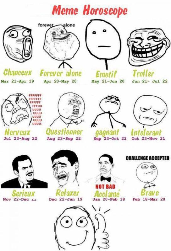 L'horoscope des mêmes