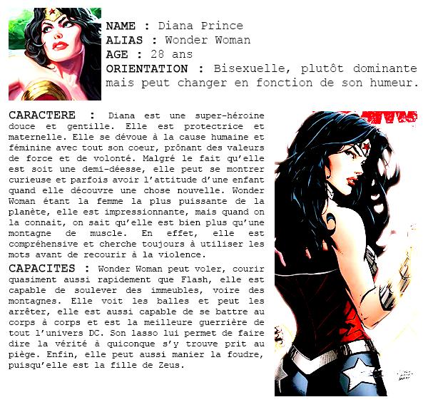 DC COMICS    DIANA PRINCE a.k.a WONDER WOMAN