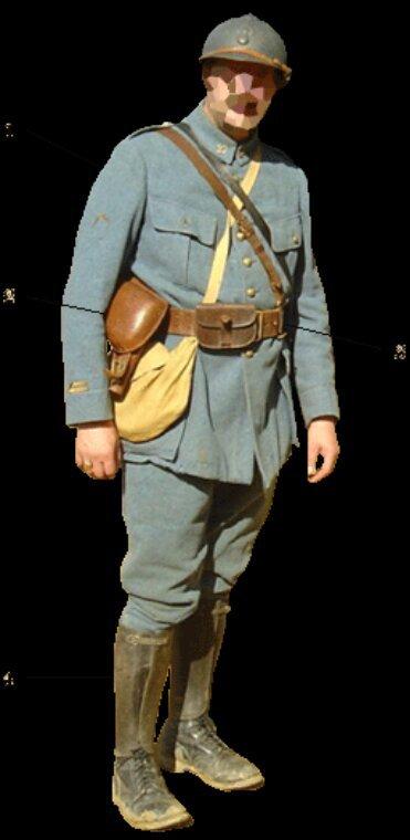 Ceinturon poilu modèle 1903/1914