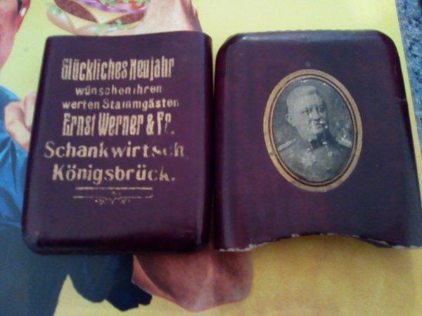 Boîte à cigarettes allemande ww1