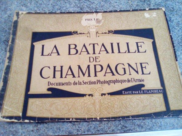 Album photo de la bataille de Champagne ww1