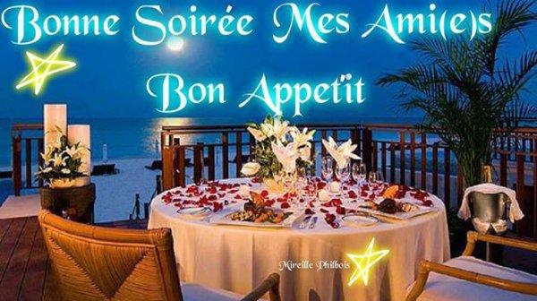 je vous souhaite un bon appetit et une bonne soiree