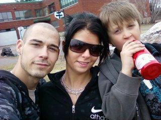 Mon chum, moi et mon fils adoré!