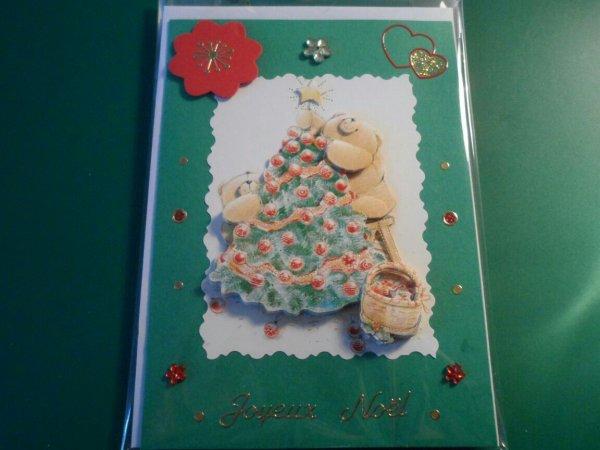 """Cartes Scrapbooking et 3D """"Joyeux Noël"""""""