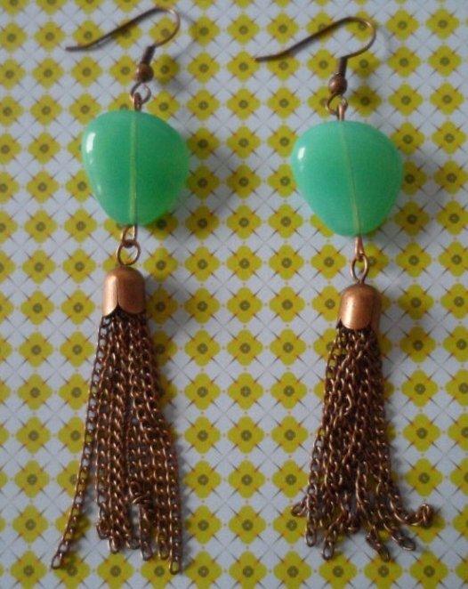 """Boucles d'Oreilles """"Turquoise"""""""