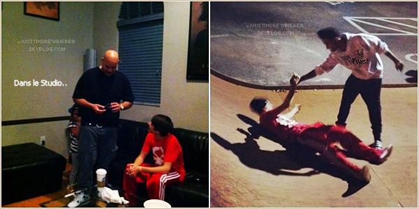 .  / Apparition /  Jeudi 2 Fevrier  → Justin faisant encore et encore du skate a Miami. .