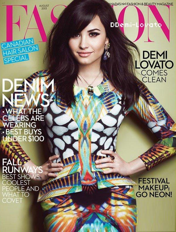 Demi en couverture du magazine FABULOUS du mois d'août