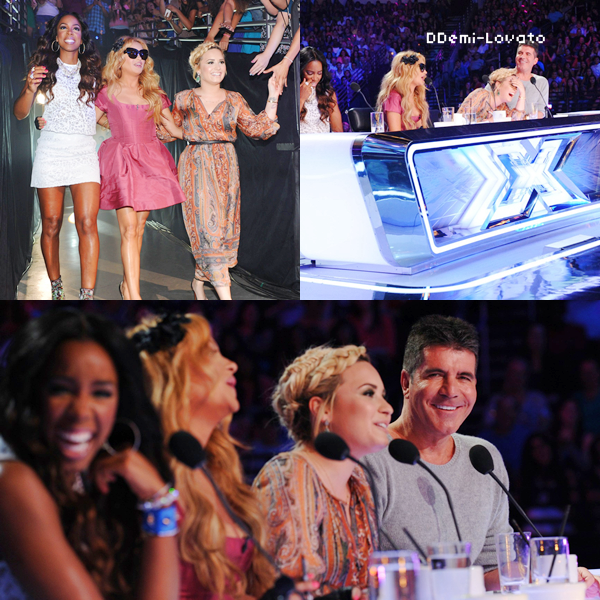 10/07/13 Demi aux auditions de la 3ème saison de l'émission X Factor USA à Los Angeles