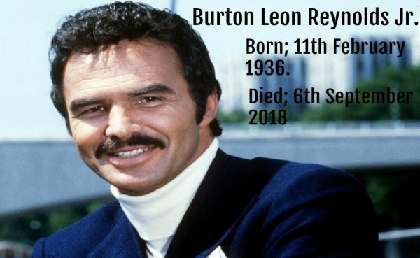 Burt Reynolds il est décédé le jeudi 6 septembre, 2018