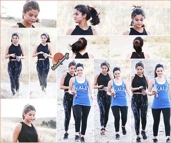 - 26/06/15 - Selena accompagnée d'une amie, sont allées faire une randonnée dans un canyon, à Hollywood Hills ●● C'est une Selena bien sportive que nous retrouvons aujourd'hui, côté tenue je donnerai un TOP pour une sortie sportive. Qu'en pensez-vous ? -