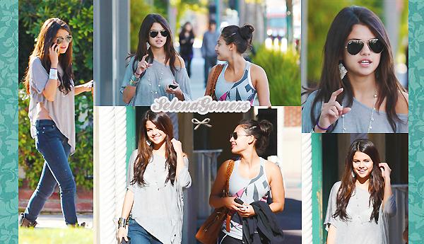 '  07.02.2011 -  Selena passait la journée avec une amie dans New York Concernant la tenue je donnerai un bof pour Selena, ces lunettes sont superbes '