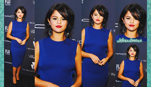 '  21.02.2015 - Ensuite Selena c'est rendue au pré-oscar à Weinstein Company's Academy Awards Nominees Dinner Côté tenue je donne un gros TOP pour notre starlette préférée, la robe lui va à ravir. Selly était très élégante lors de cette soirée '