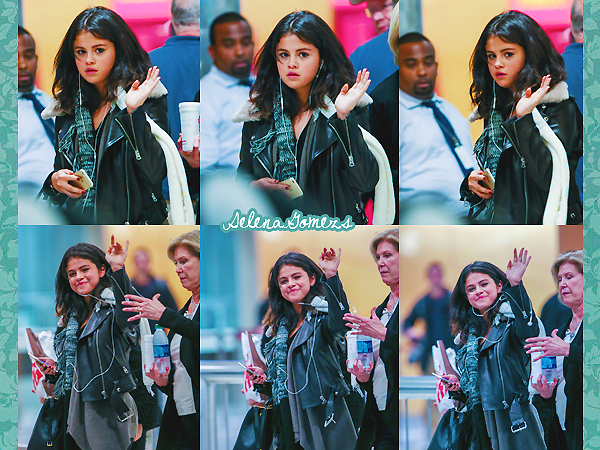 '  09.02.2015 - Selena a été vue arrivant à l'aéroport d'Atlanta Côté tenue il n'y a pas grande chose à dire je dirais un petit Top '