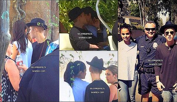 22.Juin.2014 : Selena et Justin ont été vus au Zoo de Los Angeles