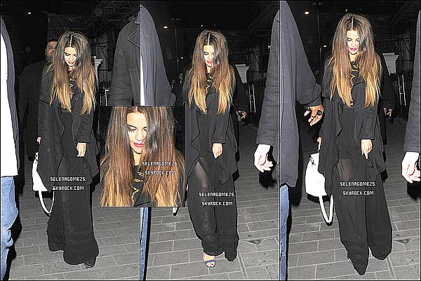 24.Mai.2013 : Selena était sorti en boîte de nuit avec Jaden Smith, à Londres