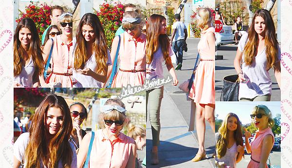 '  27.06.2012 - Selena était allée déjeuné en compagnie de sa meilleure amie Taylor Swift C'est une Selena toute joyeuse et jolie que nous retrouvons là, c'est un TOP pour ma part. '