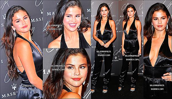 30.09.2014 : Selena était présente à la soirée « CRIB Fashion Pool Party » à Paris, en France