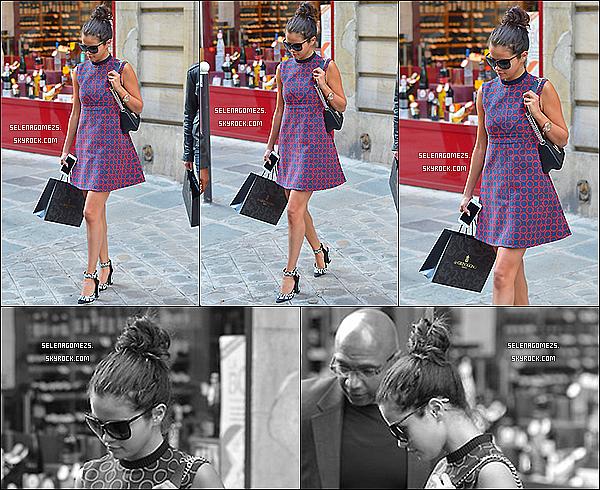 30.09.2014 : Selena a été vue alors qu'elle faisait du shopping à Paris, en France