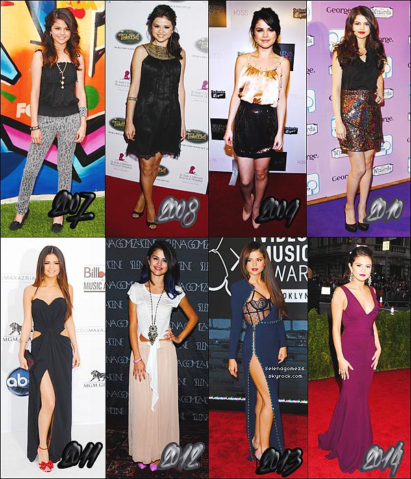 Divers : En quelle année préfères-tu Selena ?