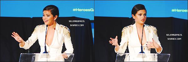 08/11/2014 : Selena était présente à la 3ème édition du Gala annuel Unlikely Heroes Awards