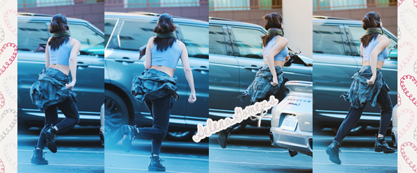 09/12/2014 : Selena c'est rendue à un studio d'enregistrement, à Beverly Hills
