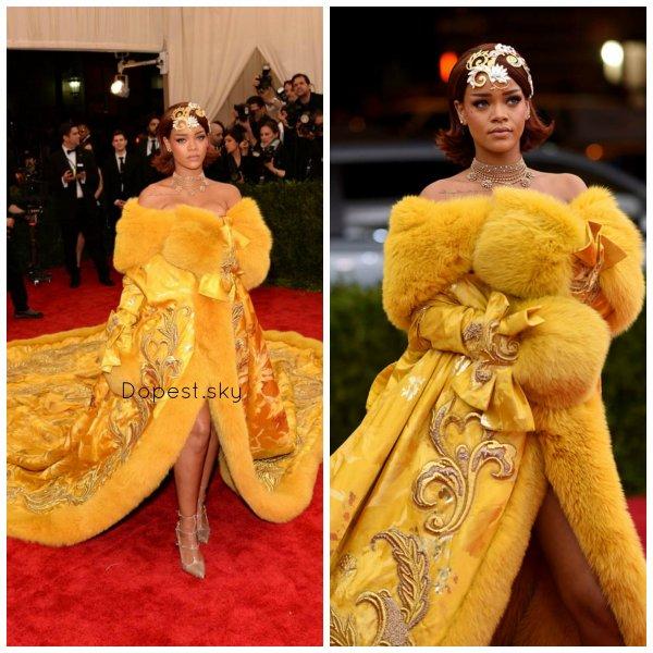 Rihanna au MET gala 2015