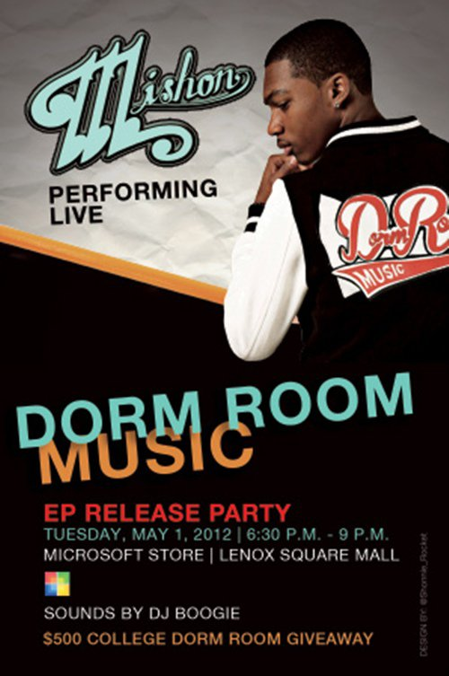 "Dorm Room Music"" EP Release Party When: Tuesday, May 1, 2012"