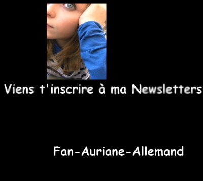 Inscrit toi a ma NewsLetter !!