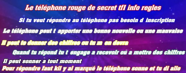 Le téléphone rouge  dans secret-tf1-info