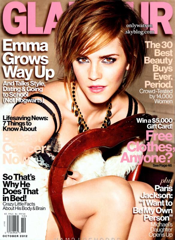 """Emma en couverture du magazine américain """"Glamour"""" (après le """"glamour uk"""") ! Traduction des articles ici  J'adore *-* ! Les outtakes sont également disponibles =) - Aussi, regardez une nouvelle vidéo BTS Glamour UK qui est apparue récemment !"""