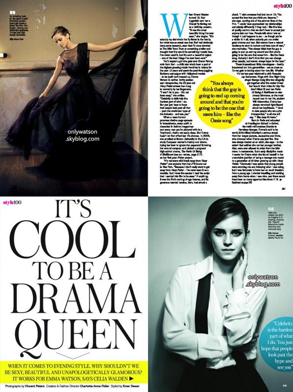 """Voici les scans du magazine """"Glamour UK"""" :)"""