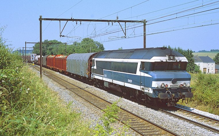 Les CC 72000 SNCF sur le réseau Belge