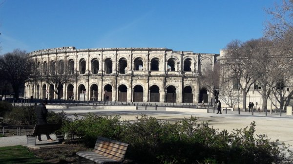 Visite des Arènes de Nimes dép 30