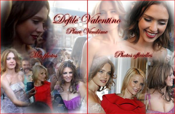 EVENT PASSE Défilé de mode Valentino à la Place Vendôme 2O1O