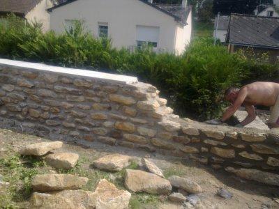Montage de mur en pierre apparente entreprise - Monter un mur en pierre avec du ciment ...