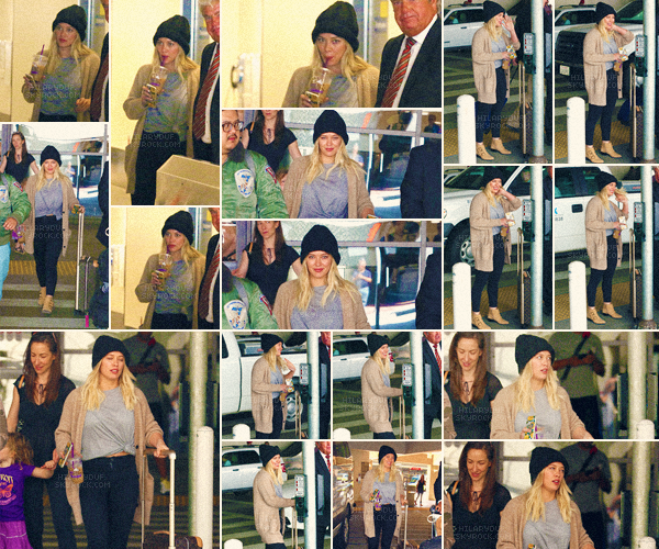 09/03/17 - Notre jolie actrice blonde, Hilary a été vu quittant l'aéroport de Los Angeles valise à la main toute seule.